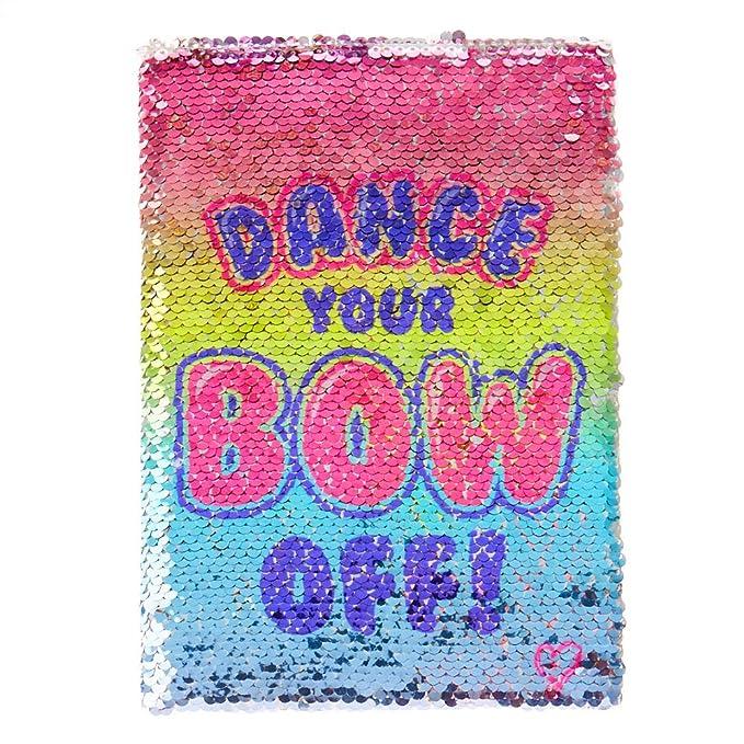 c5e840765798c Claire s JoJo SiwaTM Dance Your Bow Off Reversible Sequin Notebook  Rainbow Silve  JoJo Siwa  Amazon.co.uk  Clothing