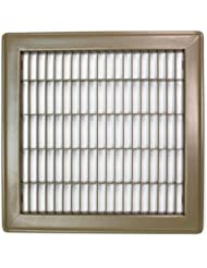 "10"" X 12"" Heavy Duty Rigid Floor Grille - Fixed Blades Air Grill - Brown"