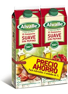 ALVALLE - Gazpacho Suave Refrigerado Envase 2 X 1 Lt