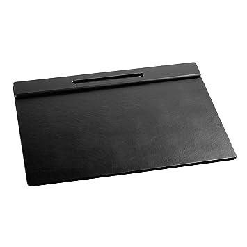 Rolodex Wood Tones Collection Desk Pad Black 62540
