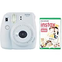 instax Mini 9 Camera with 30 Shots - Smoky White
