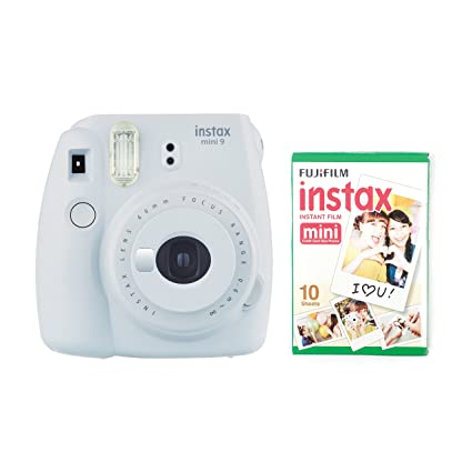 61211d62a9a instax Mini 9 Camera with 30 Shots - Smoky White  Amazon.co.uk  Camera    Photo