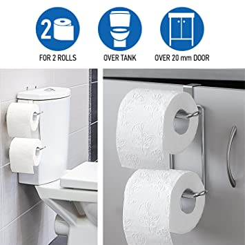 Amazon.com: Wonder Worker Clever Over the Tank 2 Roll Toilet Paper ...