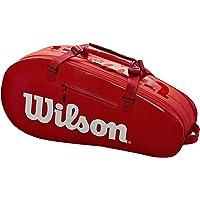WILSON Sporting Goods Super Tour - Bolsa de Tenis con 2 Compartimentos pequeños, Color Rojo y Blanco