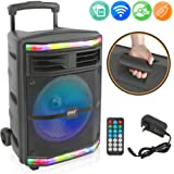 Pyle 10 Inch System-600W Bluetooth Speaker Portable PA System w/Rechargeable Battery 1/4