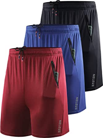 Neleus Men's 7 inch Running Shorts Lightweight Workout Shorts with Pockets