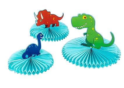 Amazoncom Dinosaur Party Decoration 3 Piece Dinosaur Honeycomb