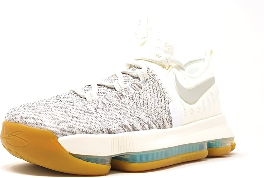31e0b6be7661 Nike Boys Zoom KD9 Big Kid Textured Basketball Shoes Pale Grey Ivory Pale  Grey