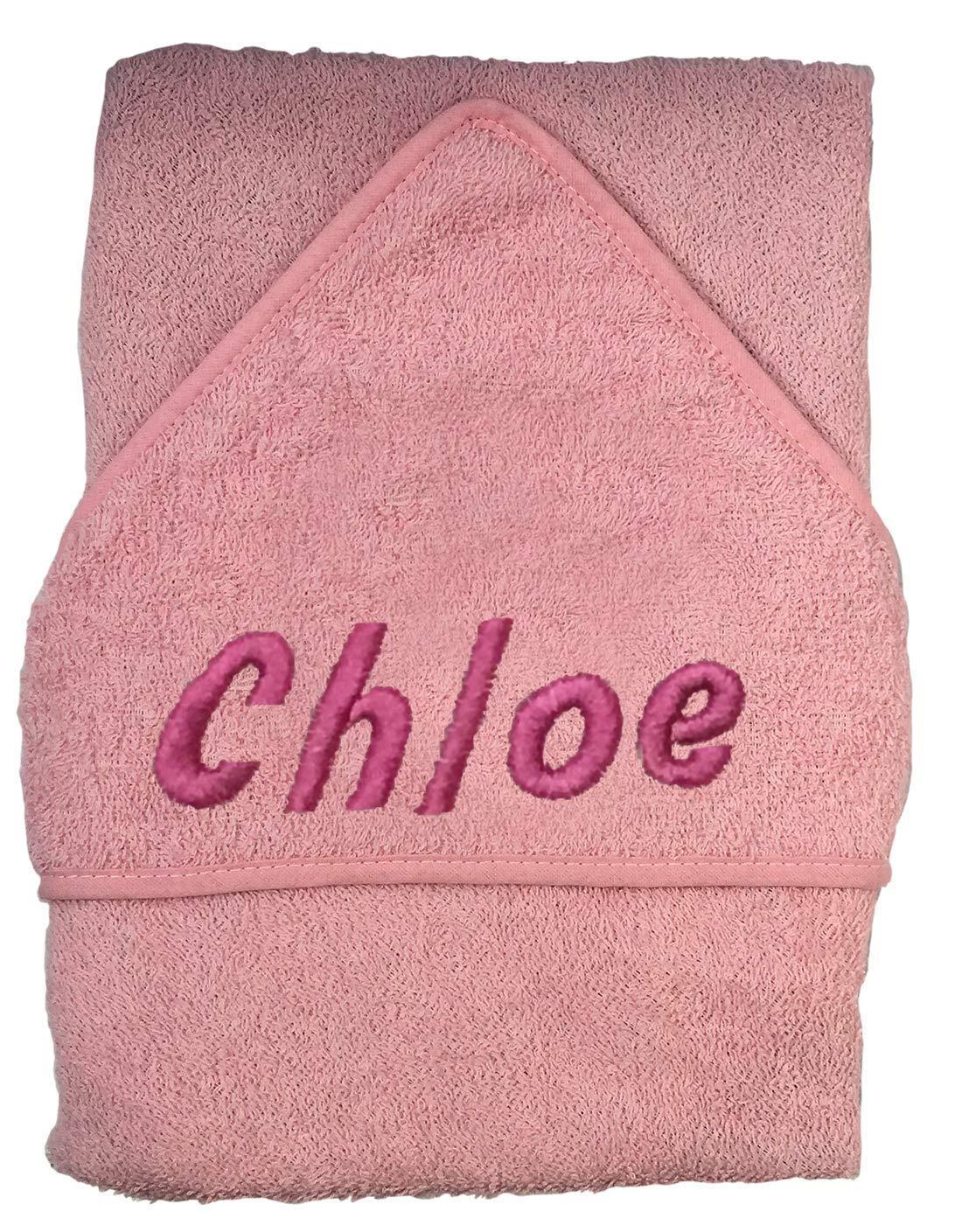 Toalla de baño con capucha para bebé con nombre de niño y niña Blue Block Name: Amazon.es: Bebé