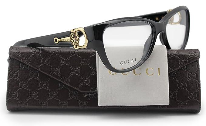 6d6b613b355 GUCCI GG3714 Eyeglasses Shiny Black (0D28) GG 3714 D28 FR 54mm ...