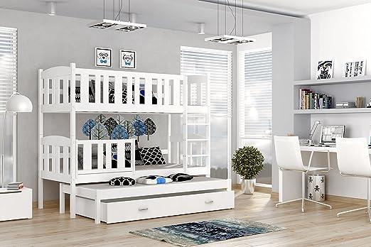 Etagenbett Quba 3 : Etagenbett hochbett jakob farbe weiß mit einer schublade