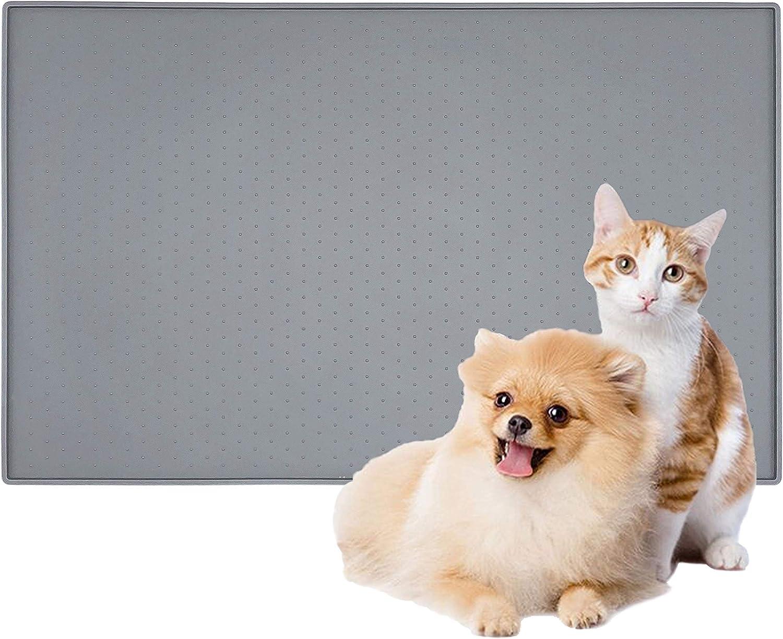 Patas Lague Dog Food Mat,Silicone Dog Bowl Mat,Non Slip Pet Dog Cat Bowl Mats Placemat,BPA Free&Easy Clean