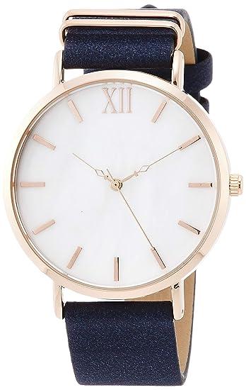 online store 9fd73 2c385 [フィールドワーク]Fieldwork 腕時計 アナログ クロエ 革ベルト 白蝶貝文字盤 ネイビー×ホワイト FSC134-3 レディース
