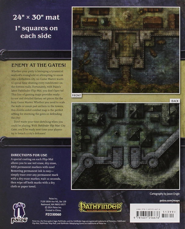 Pathfinder Flip-Mat: City Gates: Engle, Jason A.: Amazon.es: Juguetes y juegos