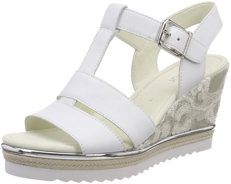 blanco (Weiss) Gabor zapatos Basic, Sandalia con Pulsera
