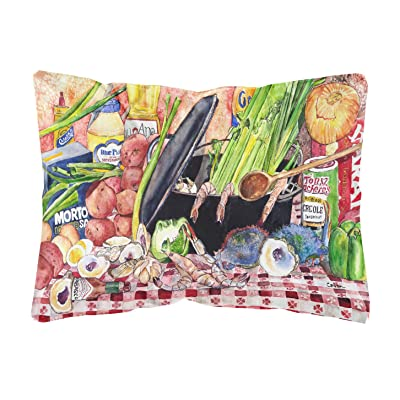 Caroline's Treasures 8825PW1216 Gumbo and Potato Salad Canvas Fabric Decorative Pillow, 12H x16W, Multicolor : Garden & Outdoor