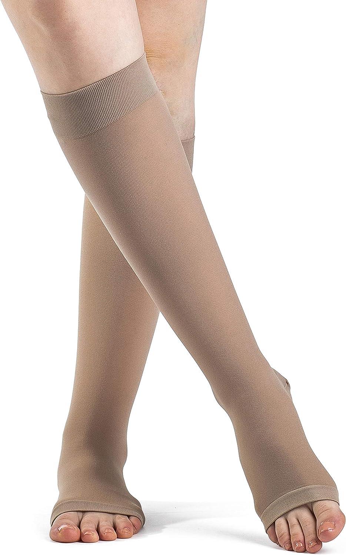 Sigvaris 503 Rubber Series Open Toe Knee Highs 30-40 mmHg Full