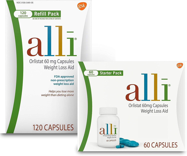 60 count alli diet pills