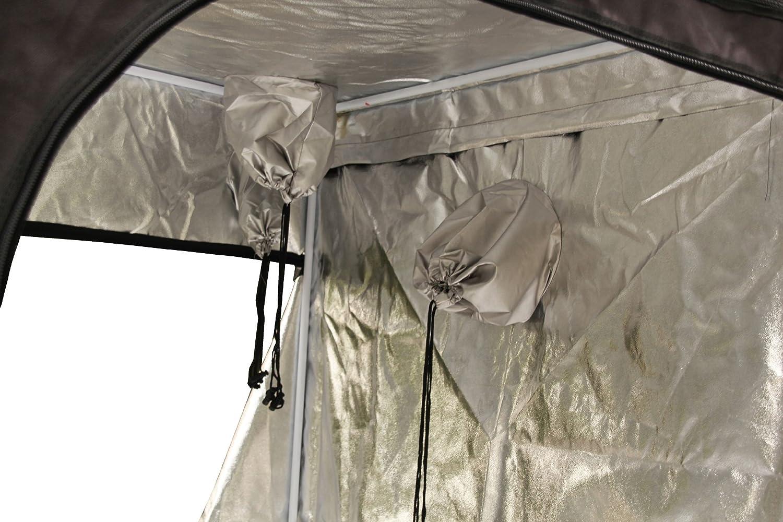 FoxHunter Quality Portable Grow Tent Silver Mylar Green Room Hydroponic Bud Room Dark Room 200cm x 200cm x 200cm for Gardening Hydroponics