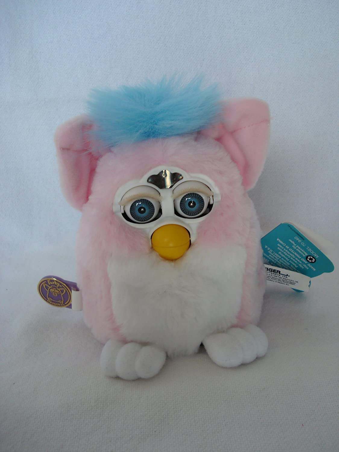 FURBY BABIES Interactive Electronic Toy Baby blue, white belly, pink ears
