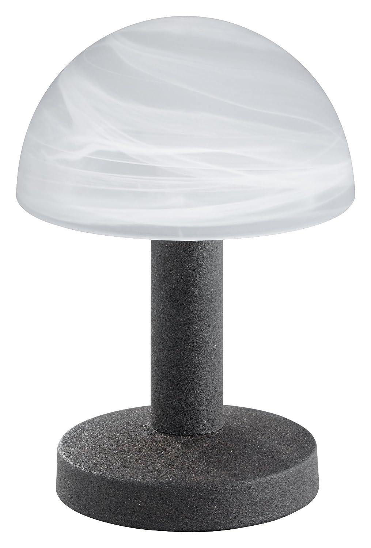 Trio-Leuchten 599000107 Tischleuchte in Nickel matt, Touch-Me-Funktion(4-fach schaltbar, 3 Helligkeitsstufen), Glas alabasterfarbig weiß, exklusive 1xE14 max. 40W, Höhe 21 cm Höhe 21 cm Trio Leuchten