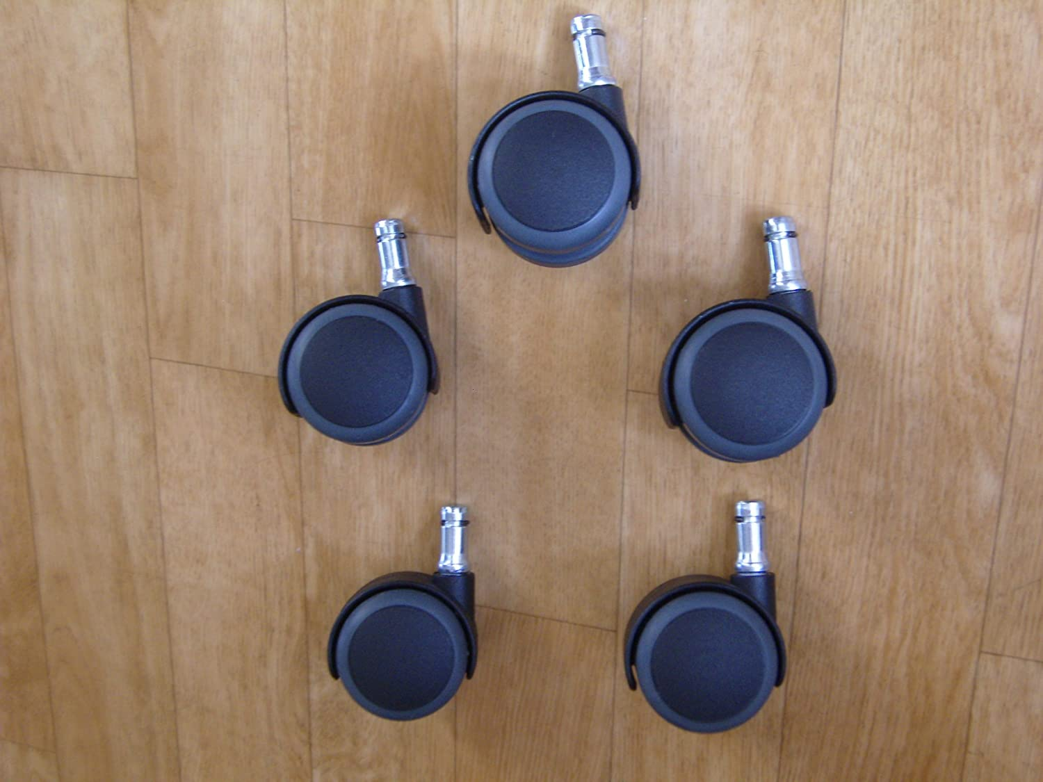 5 x 50mm Soft Wheel Castors with 11mm x 22mm Stems (5016S) Uk manufactured - top quality - not imported rubbish that break easily