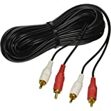 Dual RCA Audio Cable 25ft long for Stereo CD DVD Amplifier Mixer DJ PA