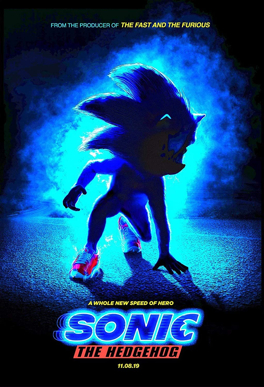 Amazon Com Handtao Sonic The Hedgehog 2019 Movie Fabric Cloth Wall Poster Photo Print 20x13 Inch Home Kitchen