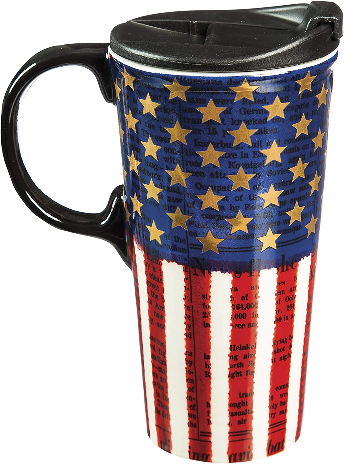Liberty 17 OZ Ceramic Travel Cup - 4 x 5 x 7 Inches