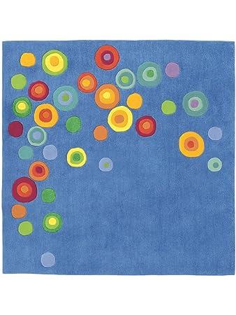 Haba Teppiche: Kinderzimmer Kinderteppich Zauberkreis Blau ...