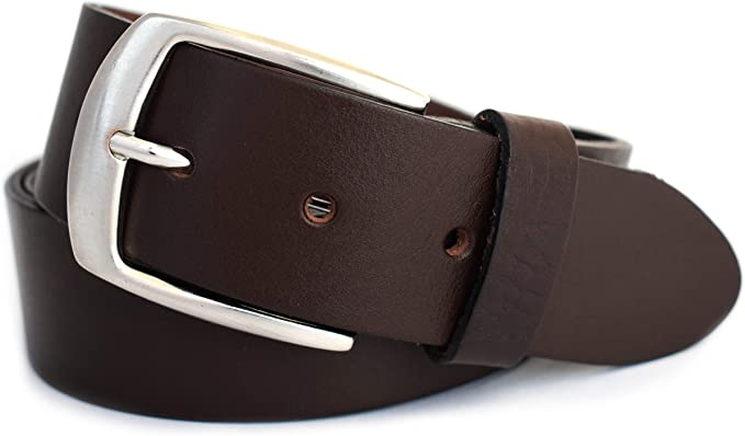 4cm breiter Herren Gürtel Jeansgürtel Schwarz Braun Gürtelschnalle Herrengürtel