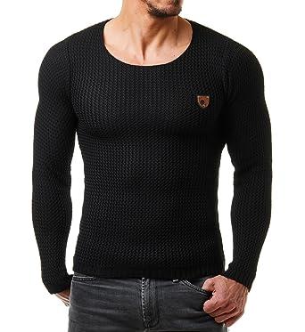 EightyFive Men s Plain Round Collar Long Sleeve Jumper Grey Grey - Grey -  XXL b1d6f19683