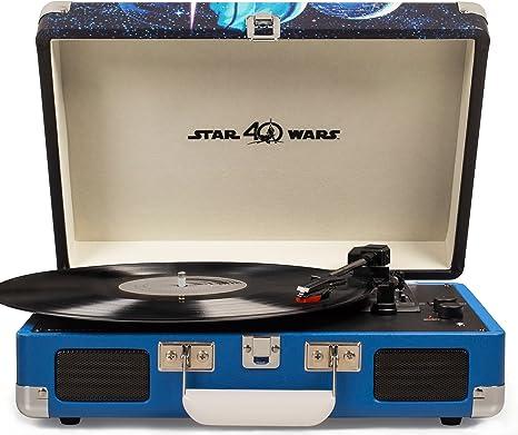 Crosley Cruiser Deluxe Vintage 3-Speed Bluetooth Suitcase Turntable, Star Wars