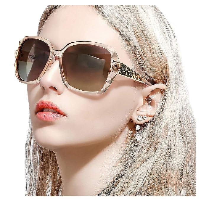 FIMILU Gafas de Sol Polarizadas Clásicas para Mujeres, Gafas ...