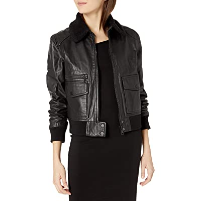 Joe's Jeans Women's Billie Leather Jacket at Women's Coats Shop