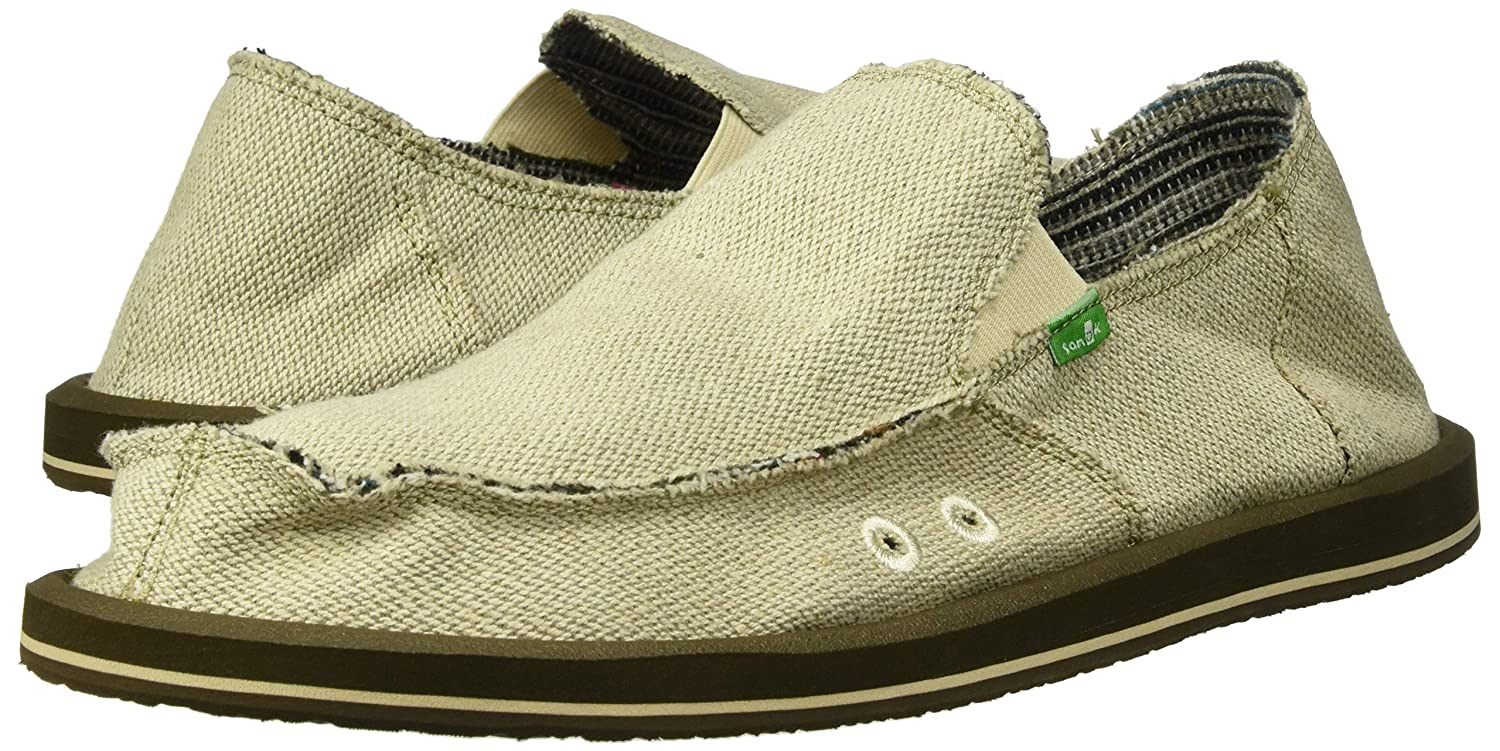 67358fac4c3a9 Amazon.com | Sanuk M Hemp Slip Ons Natural Mens 8 | Sandals