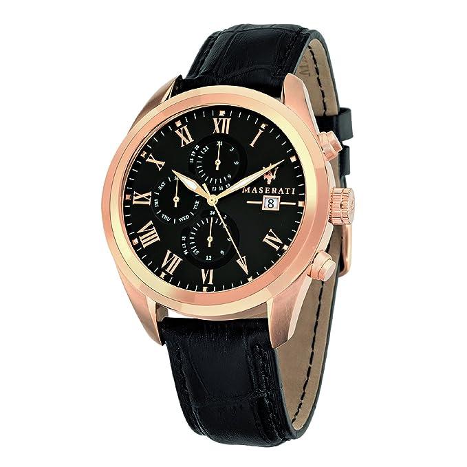 Amazon.com: Maserati Mens R8871612002 Analog Display Quartz Black Watch: Maserati: Watches