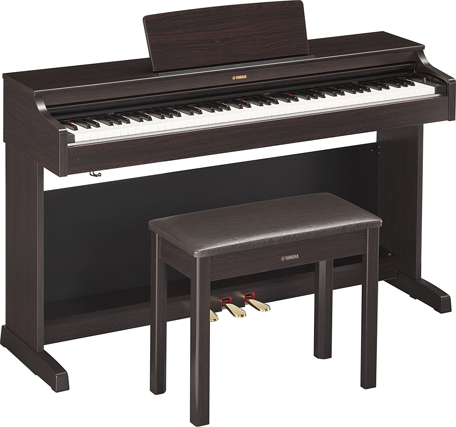 Yamaha YDP163R Arius Series Console Digital Piano with Bench, Rosewood