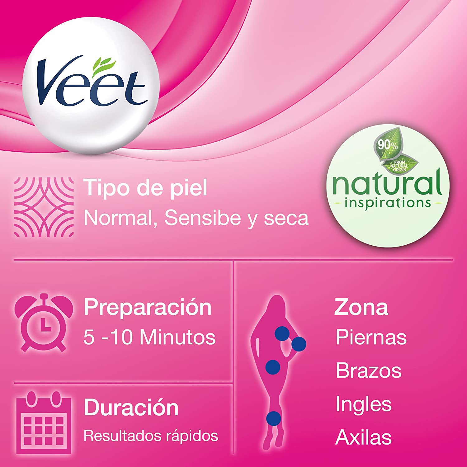 Amazon.com : VEET NATURAL CREMA DEPILATORIA TODO TIPO PIELES 200ML : Beauty