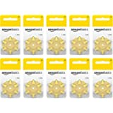 Amazon Basics 1.45 Volt Hearing Aid Batteries - Pack of 60, Size 10