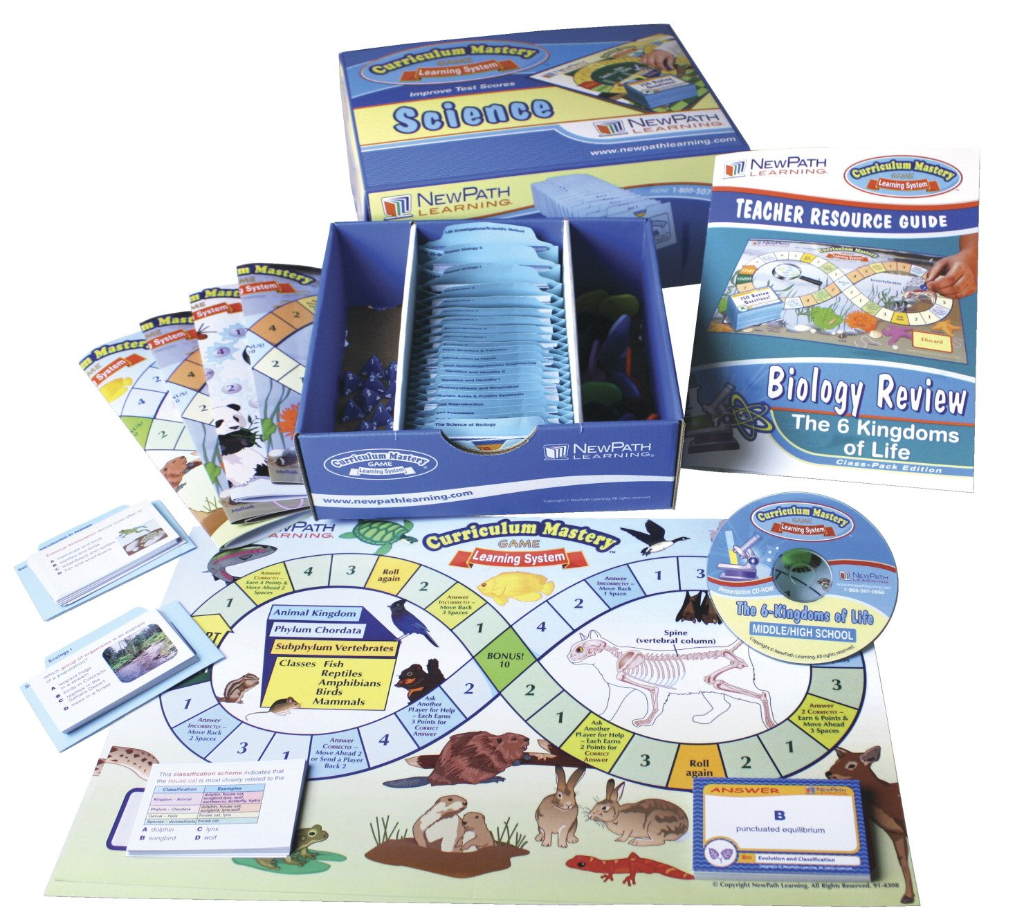NewPath Learning Six Kingdoms Curriculum Mastery Game, Grade 5-9, Class Pack