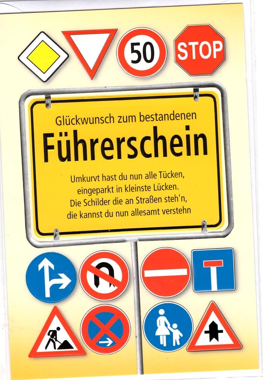 Glückwunschkarte Führerschein Schilderwald Glückwunsch