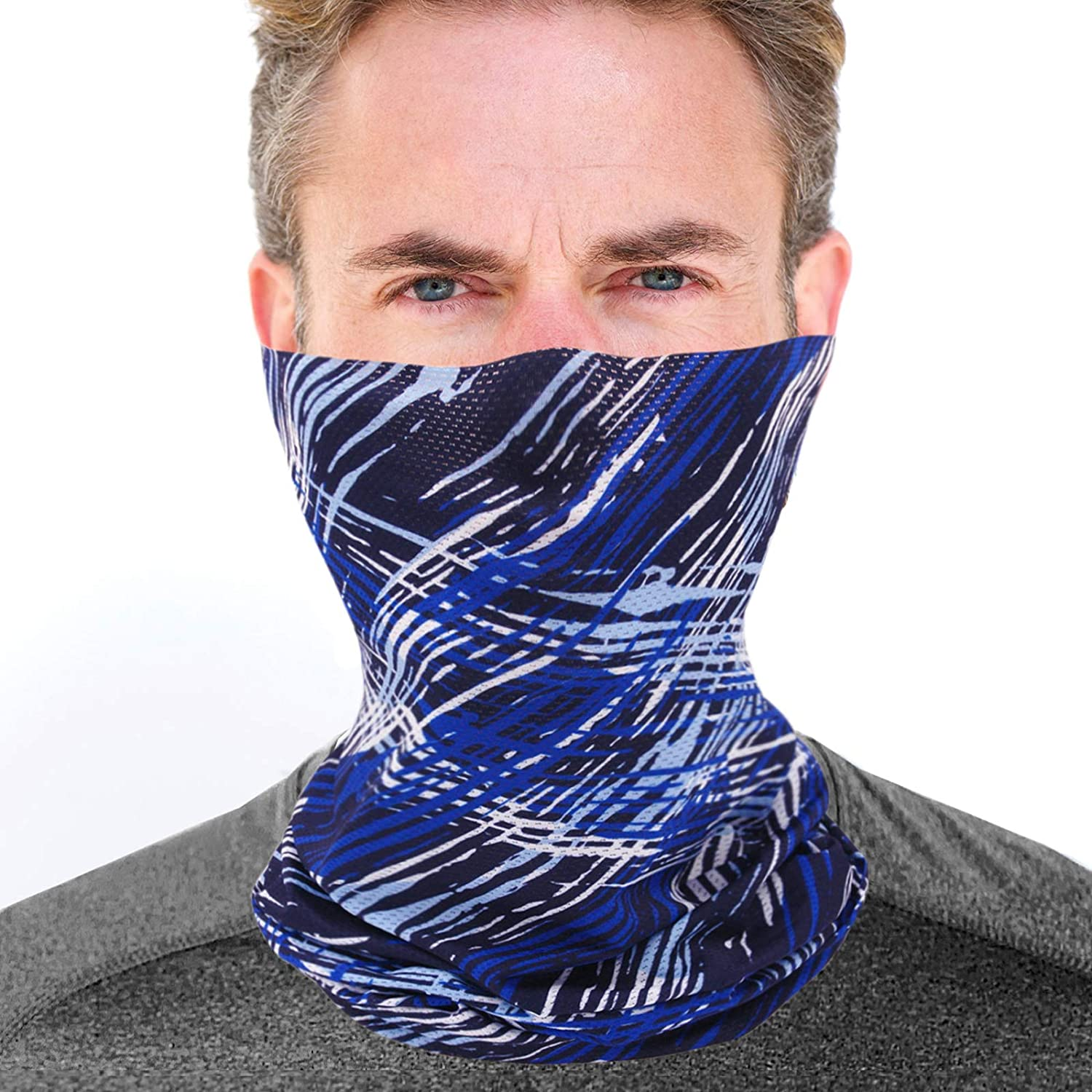 Mesh Fishing Sun Face Mask UV Protection for Men Women - Aqua Cooling Tube Neck Gaiter for Hunting Motorcycle Cycling in Summer - Dust Wind Shield Fast Dry Extreme Soft Feeling Fabric