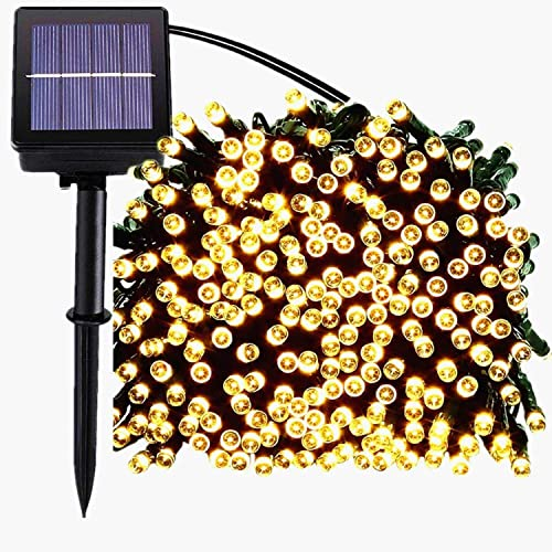 Solar String Lights Outdoor, 72FT 200 LED Fairy String Lights, Christmas Lights with 8 Lighting Modes, Mini String Lights for Party, Wedding, Bedroom, Tree, Garden and Indoor Decoration WarmWhite