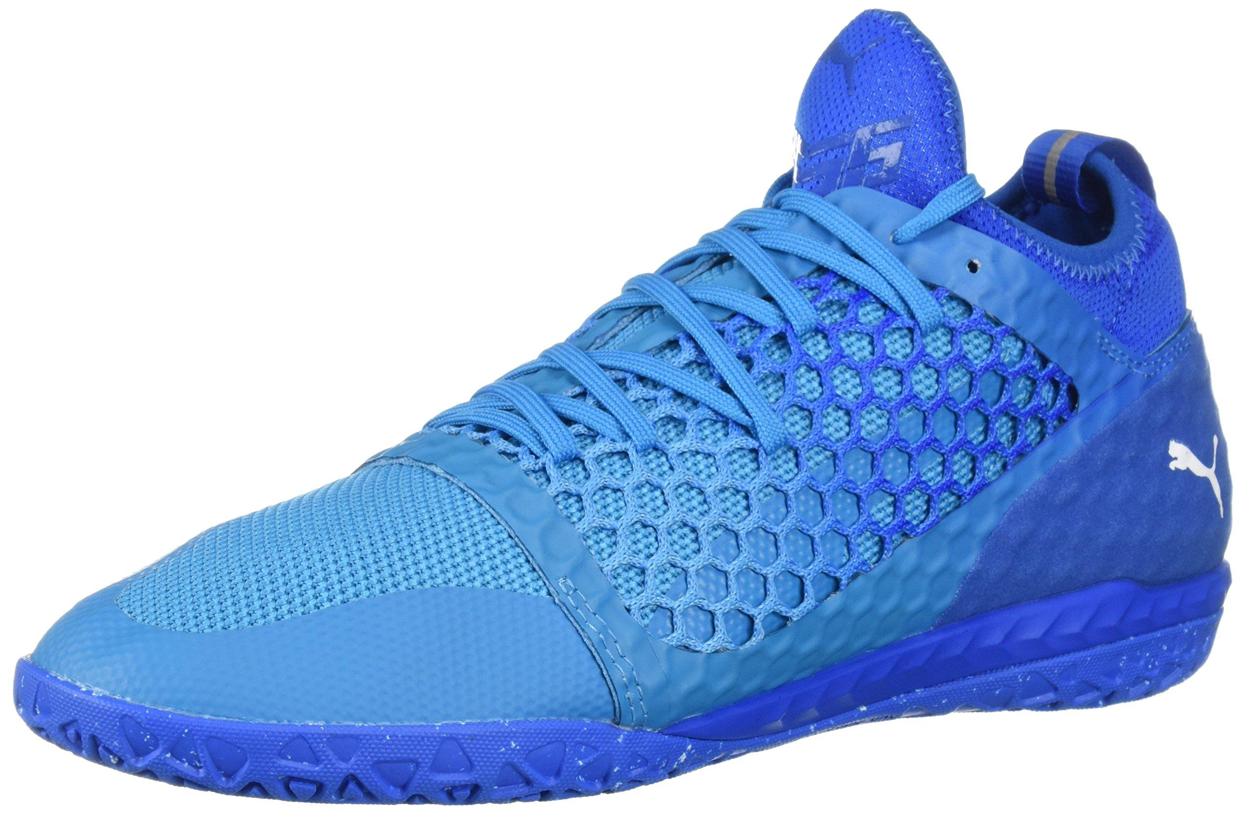 PUMA Men's 365 Ignite Netfit CT Soccer Shoe, Electric Blue Lemonade White-Hawaiian Ocean, 9.5 M US