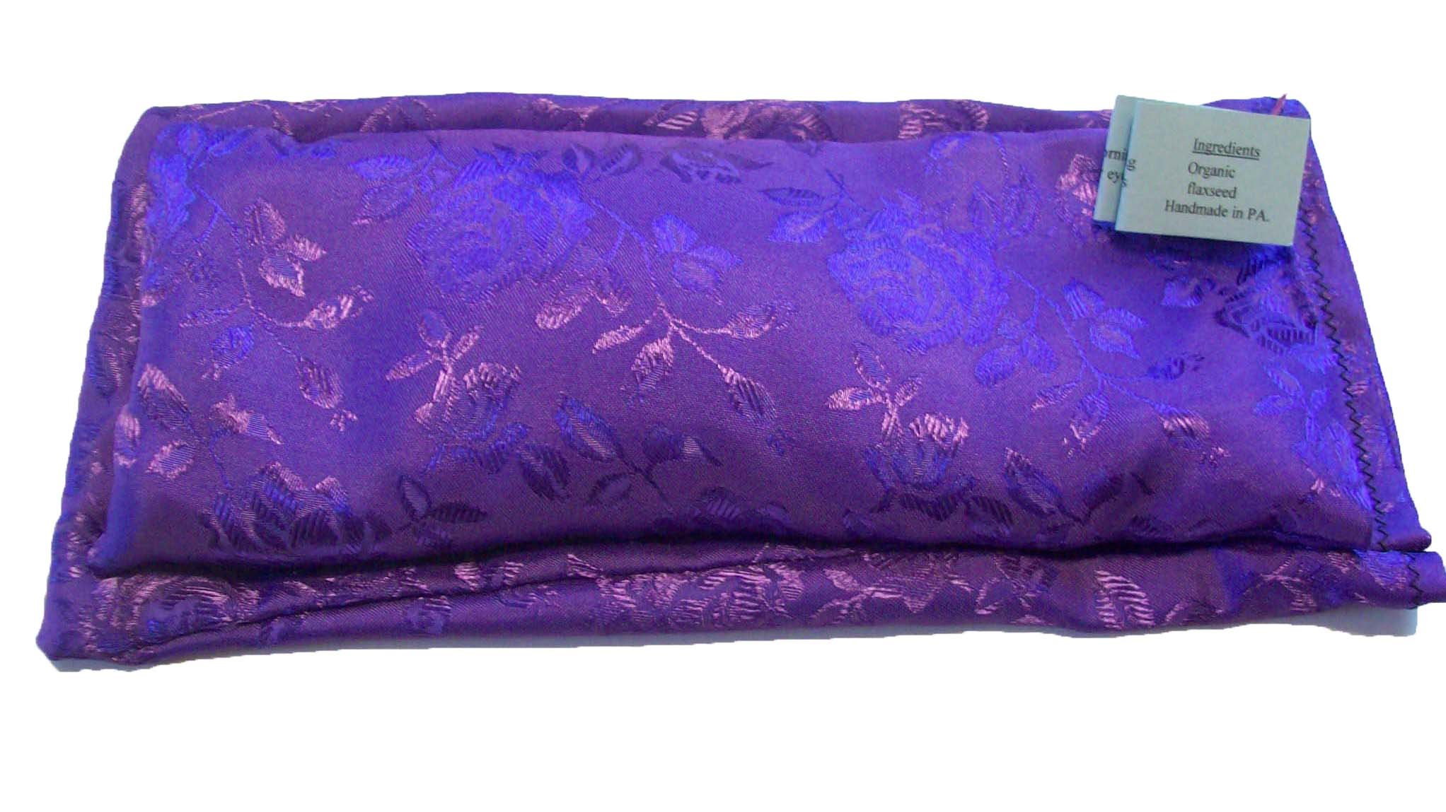 Flax Seed and Lavender Silky Satin Eye Pillow with Matching Slip Cover, (10 x 4 x 0.8 inches). by TAKETWOPILLOWS AND CALL ME IN THE MORNING!