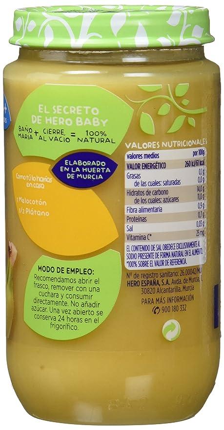 Hero Baby Babynatur Alimento Infantil, Melocotón De La Huerta Y Plátano, Sin gluten, A Partir De 4 Meses - 235 gr: Amazon.es: Amazon Pantry