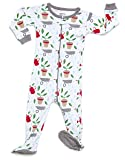 Leveret Organic Cotton Garden Footed Pajama Sleeper