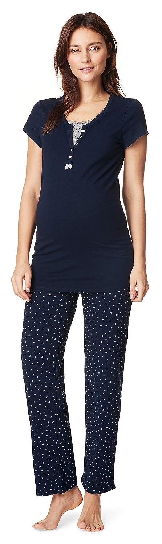 Noppies Schlafshirt + Pyjama Hose Damen Umstandsmode Nachtwäsche
