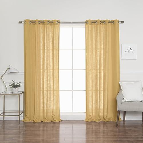 Best Home Fashion Linen Blend Curtains